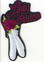 Lady Rider Rose and Feather Purple Patch 4x3
