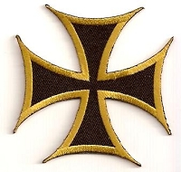 Iron Cross Patch - Bronze Outline 3x3