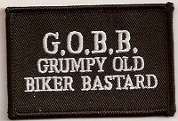 GOBB Grumpy Old Biker Bastard Patch 3x2