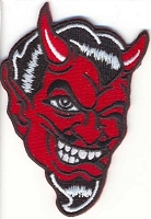 Devil Face Winking Patch 3.5x2.37