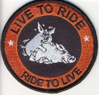 Live To Ride Ride To Live - Hogs Patch 3