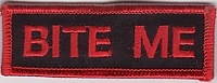 BITE ME (Red) Patch