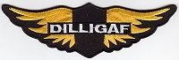 DILLIGAF Wings Patch 1.75x6
