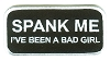 SPANK ME I'VE BEEN A BAD GIRL Patch 2 x 4