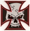 Iron Cross Vampire Skull Patch 6 x 6