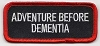 Adventure Before Dementia Patch 3.5x1.5 (Red/Black)