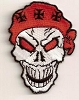 Skull With Red Bandana Patch 3