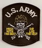 US Army Mess With The Best Patch 3x3