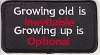 Growing old is Inevitable Growing up is Optional Patch 2x3.5
