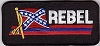 REBEL with Flag Patch 2.25X5