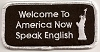 SPEAK ENGLISH OR GET OUT THE FUCK OUT Patch 2X4