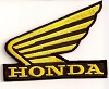 Honda Wing - Gold Patch 2.6x3.5