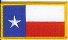 Texas Flag with Gold Border Patch 3x2