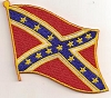 Confederate Flag Waving Patch 3