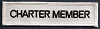 Charter Member (White With Black) Patch 1x4