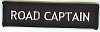 ROAD CAPTAIN Patch (Black With White Lettering) 4x1