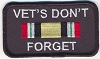 Vets Don't Forget - Iraq Patch 3.5x2