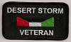 Desert Storm Veteran Patch 3.5x2