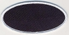 Blank Patch 4x2 Oval Black Background White Border With Heat Seal