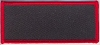 Blank Patch 3.5x1.5 Black Background Red Border With Heat Seal
