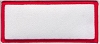 Blank Patch 3.5x1.5 White Background Red Border With Heat Seal