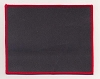 Blank Patch 6x4.75 Black Background Red Border With Heat Seal