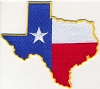 Texas State Outline With Flag Patch 4x3.6