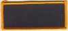 Blank Patch 3.5x1.5 Black Background Orange Border