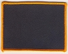 Blank Patch 4x3 Black Background Orange Border