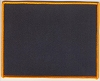Blank Patch 6x4.75 Black Background Orange Border