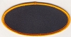 Blank Patch 4x2 Oval Black Background Orange Border