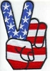 Peace Fingers Patch 3.5x2.35
