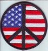Peace Sign Black with US Flag Patch 3