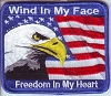 Wind In My Face Freedom In My Heart Patch 3.5x3