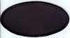 Blank Patch 4x2 Oval Black Background Black Border with Heat Seal