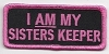 I Am My Sisters Keeper (Pink) Patch