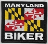 Maryland Biker Flag Patch 3.5x3.2