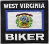 West Virginia Biker Flag Patch 3.5x3.2