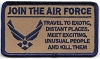 Join The Air Force Patch 4x2.25
