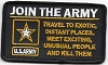 Join The Army Patch 4x2.25