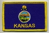 Kansas Flag with Gold Border 3x2