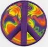 Peace Sign Psychedelic Patch