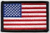 US Flag With Black Border Patch 3x2