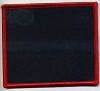Blank Patch 3x3.5 Black Background Red Border With Heat Seal