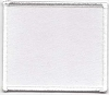 Blank Patch 3x3.5 White Background White Border With Heat Seal