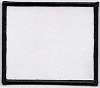 Blank Patch 3x3.5 White Background Black Border With Heat Seal