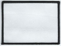 Blank Patch 4x3 White Background Black Boarder with Heat Seal