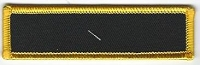 Blank Patch 3.5 x 1 Black Background Yellow Border