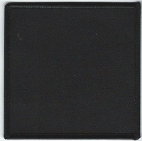 Blank Patch 3.5 x 3.5 Black With Black Border