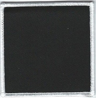 Blank Patch 3.5 x 3.5 Black With White Border